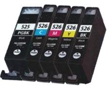 Multipack 5ks Canon CLI-526 / PGI-525 - kompatibilní - včetně čipu